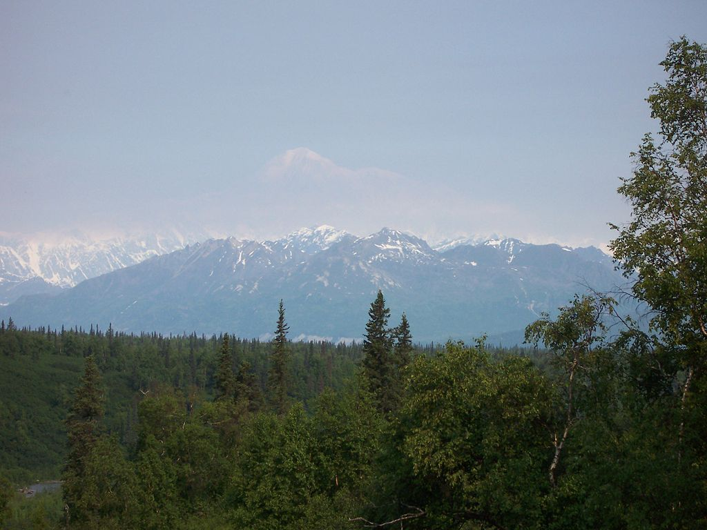A picture only conveys a fraction of the true majesty of Mt. McKinley, seen here from George Parks Highway (Wikimedia Commons)