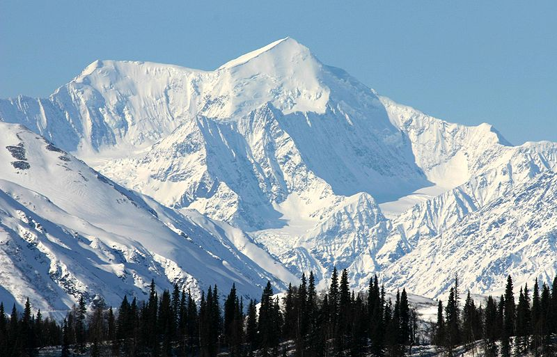While its summit is lower in elevation than Mt. Everest's, Mt. McKinley's peak raises 18,000 feet from its base, 6,000 feet more than Mt. Everest. (Wikimedia Commons)