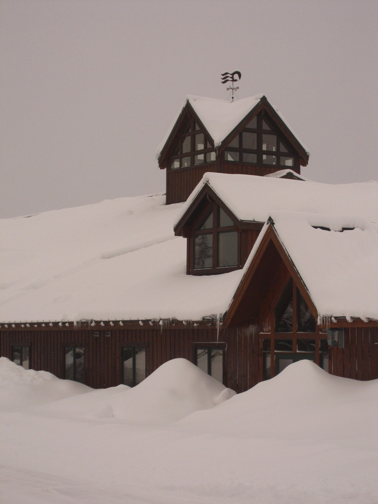 Mt. McKinley Lodge Covered with Snow
