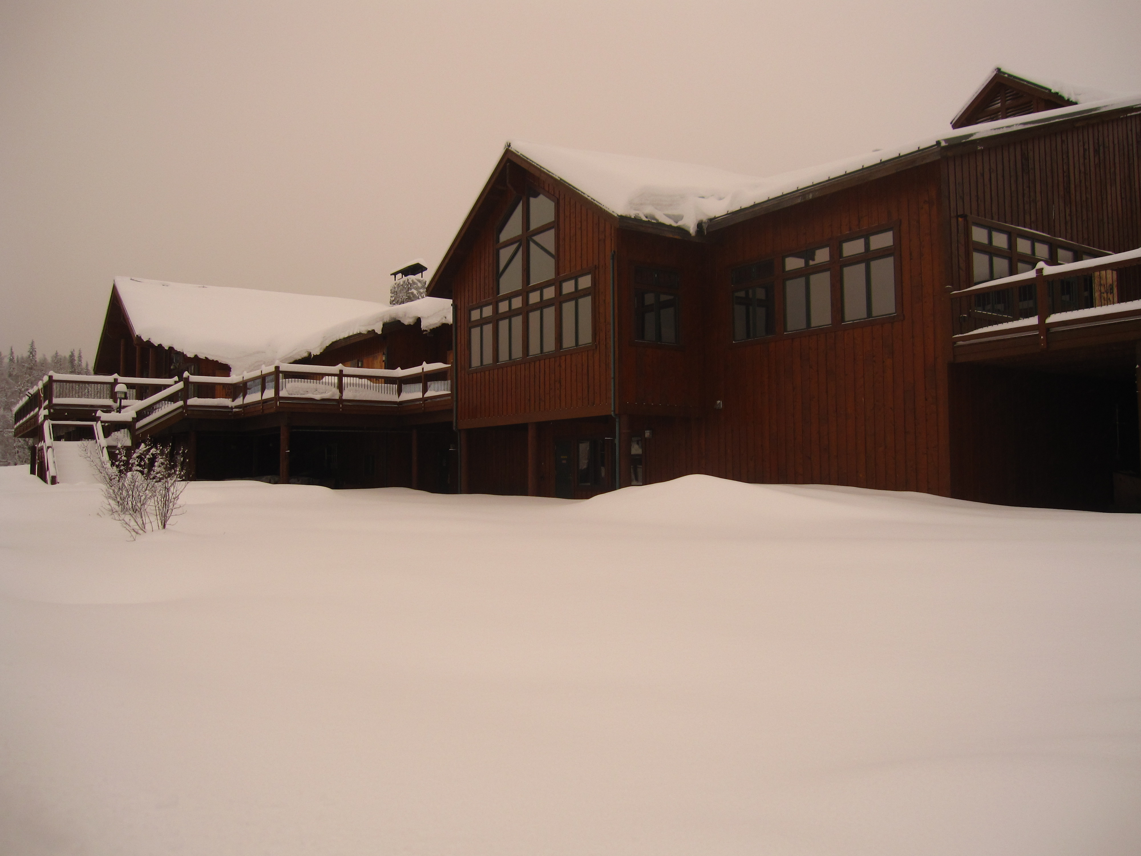 Snow-Covered McKinley Princess Lodge
