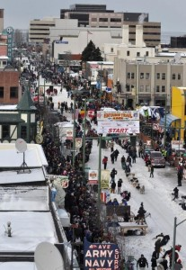 The Iditarod starting line. Photo Credit: Anchorage Daily News