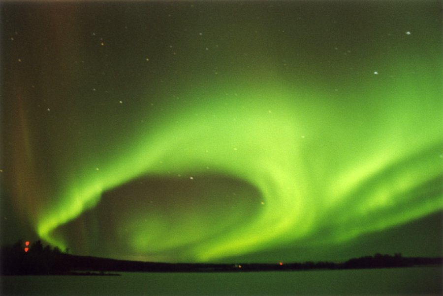 Aurora borealis can light up the entire sky in the right conditions