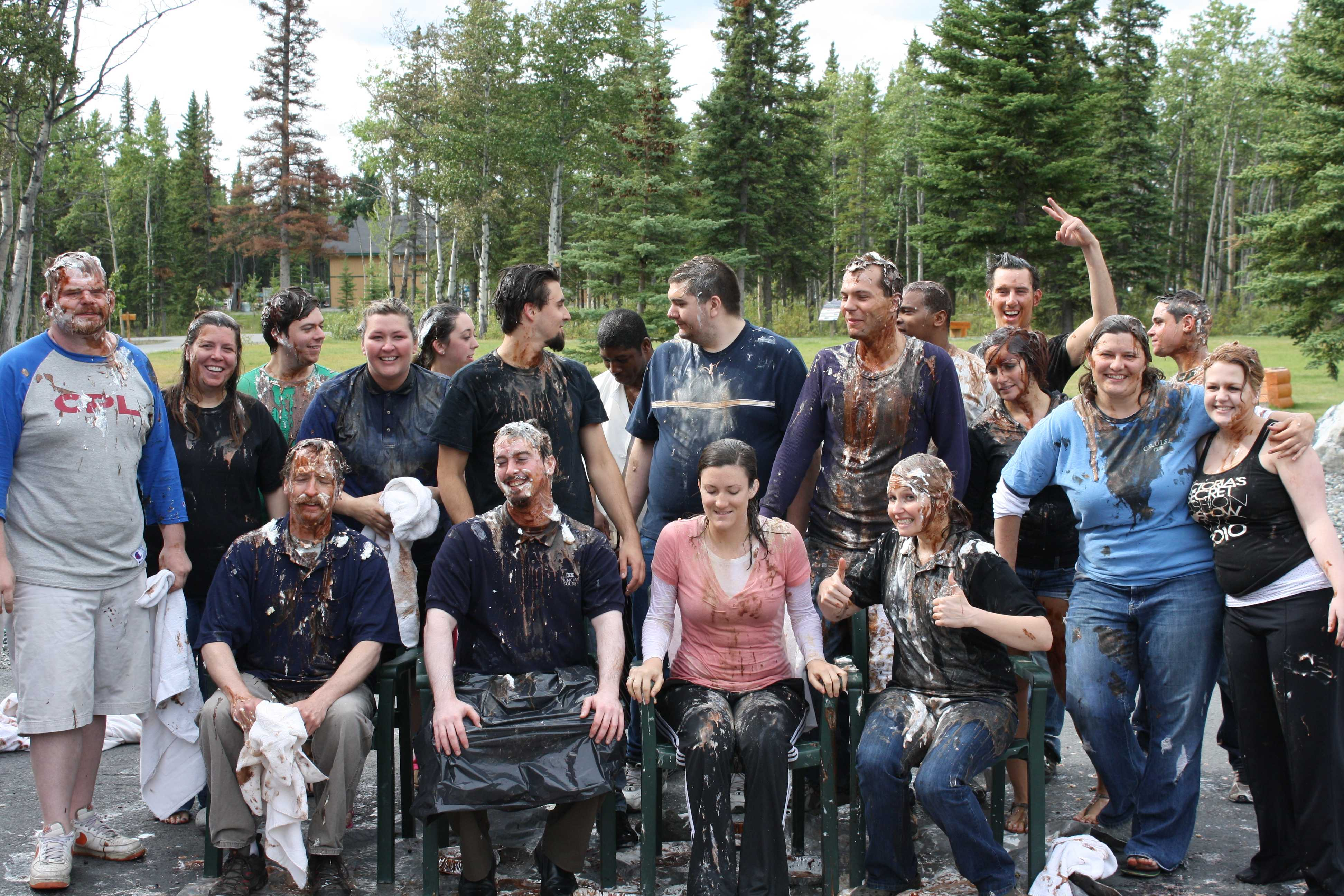 Pie in the Face group photo