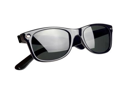 black glossy wayfarer sunglasses