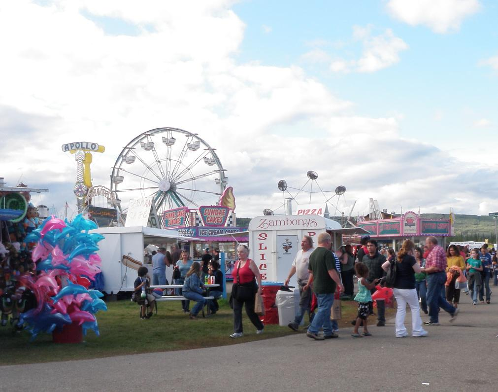 Ferris Wheel and rides at the Tanana Valley State Fair