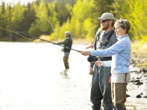 Flying fishing in Alaska