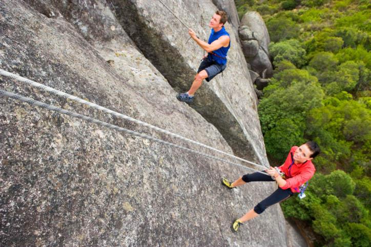 climbers on belay