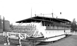 S.S. Nenana Paddlewheel boat currently on display in Pioneer Park in Fairbanks, Alaska, Princess Lodges