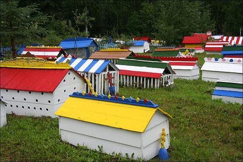 Visit the Eklutna Village Memorial Park cemetary near Anchorage Alaska - Princess Lodges