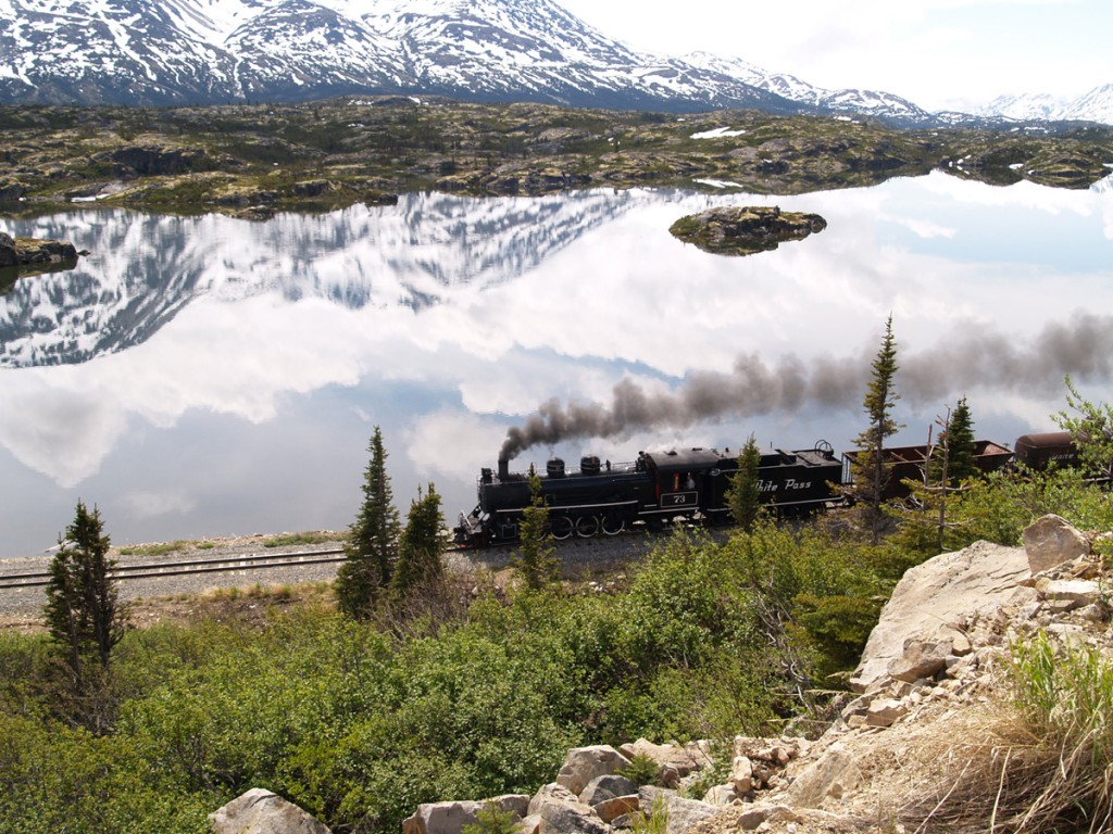 White Pass Train travels the through the wilderness - Princess Lodges