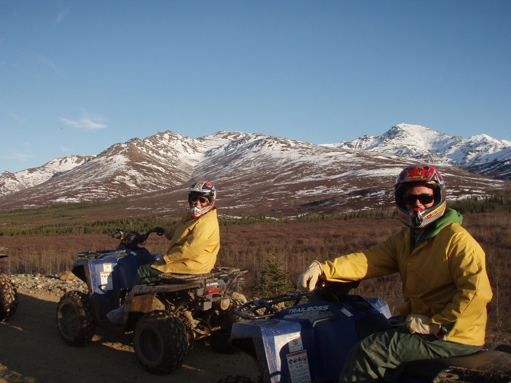 Guests enjoying Alaska scenery up close on all terrain vehicles - Princess Lodges