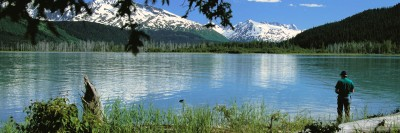 Fisherman on Alaskan Lake
