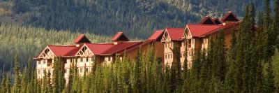 Alaska Lodge exterior photo - Denali Princess Wilderness Lodge sits above the Nenana River