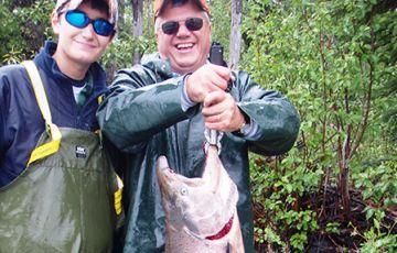 Salmon Fishing by Raft
