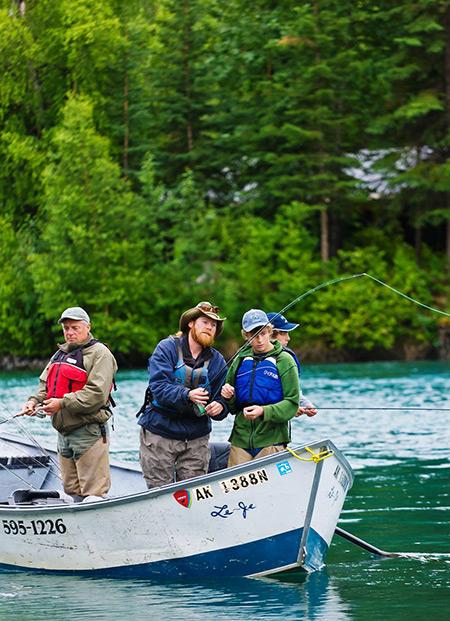 Kenai sportfishing tour full day princess alaska tours for Kenai river fishing lodges