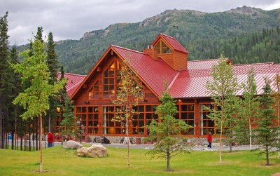 Exterior view of the Denali Princess Wilderness Lodge