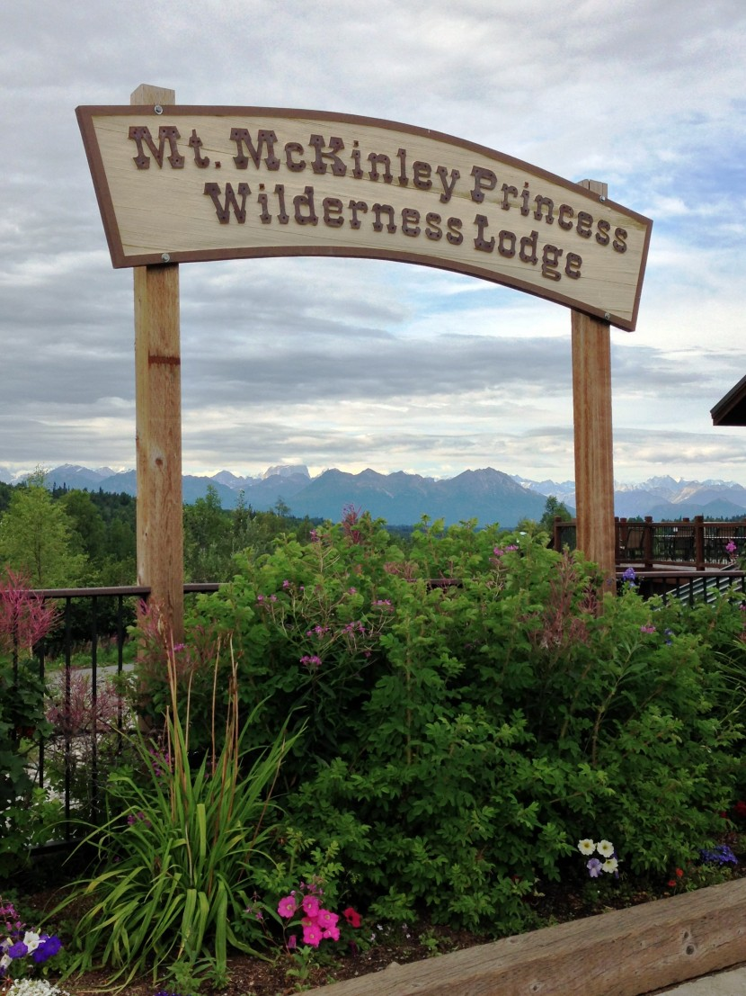 A sign for Mt. McKinley Princess Wilderness Lodge