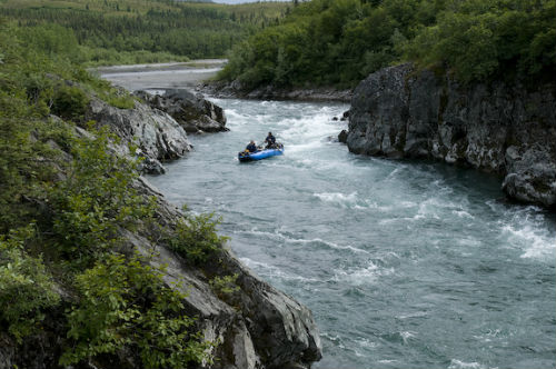 Rafting in the Denali area