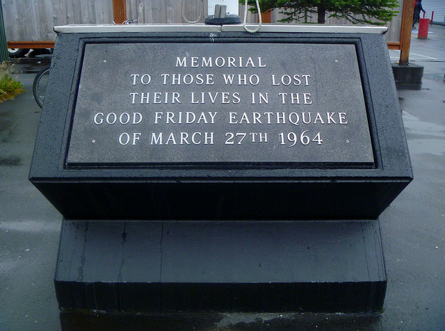 Plaque for Good Friday Earthquake