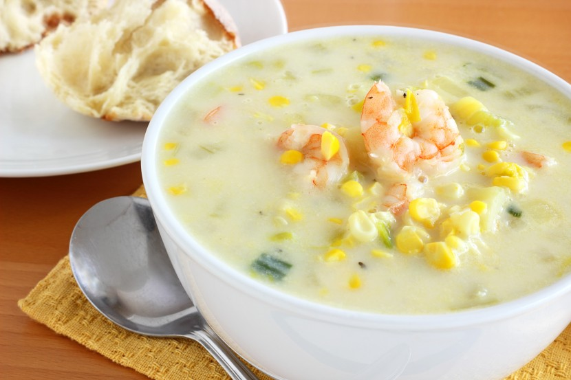 a bowl of seafood chowder