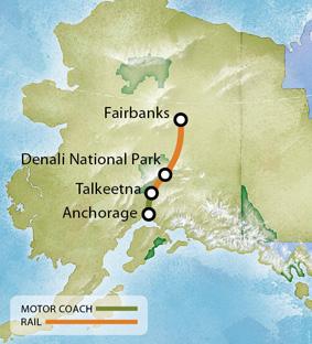 Alaska Tours Tour TN Anchorage Anchorage Mt McKinley Mt - Mount mckinley on us map