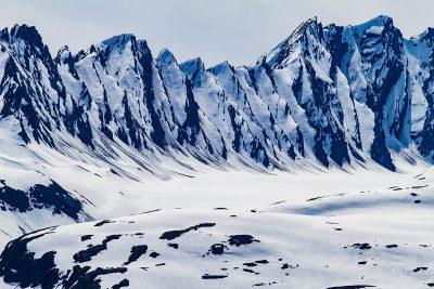 Chugach mountains in snow