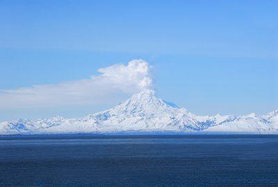 Mt Redoubt in Alaska.