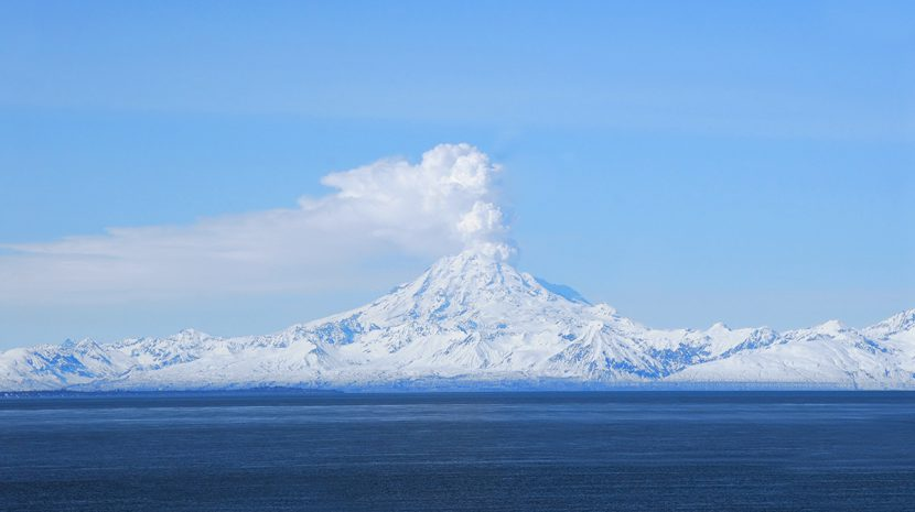 Mt Redoubt in Alaska.