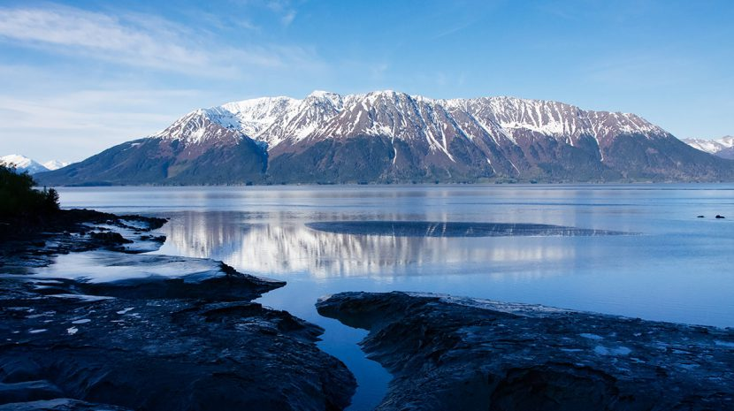 Turnagain Arm, the waterway that branches off of Cook Inlet, is home to the largest tides in the United States.