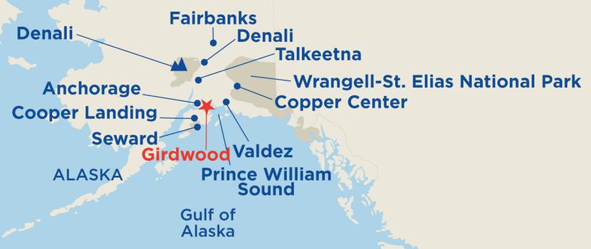 Map Girdwood Princess Lodges