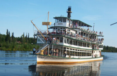 The Riverboat Discovery sternwheeler on the Chena River