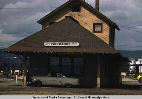 The Fairbanks Rail Depot in 1959.