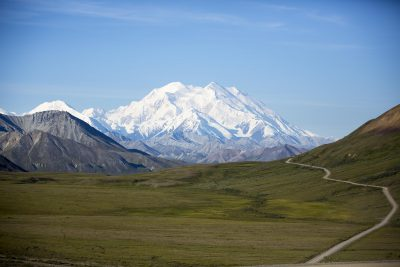 Denali, the tallest mountain in North America, seen within Denali National Park