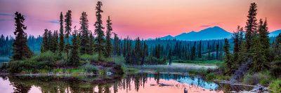 Beautiful Alaska wilderness at dusk