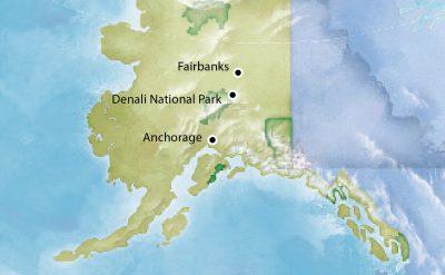 2021 Denali Tours Map